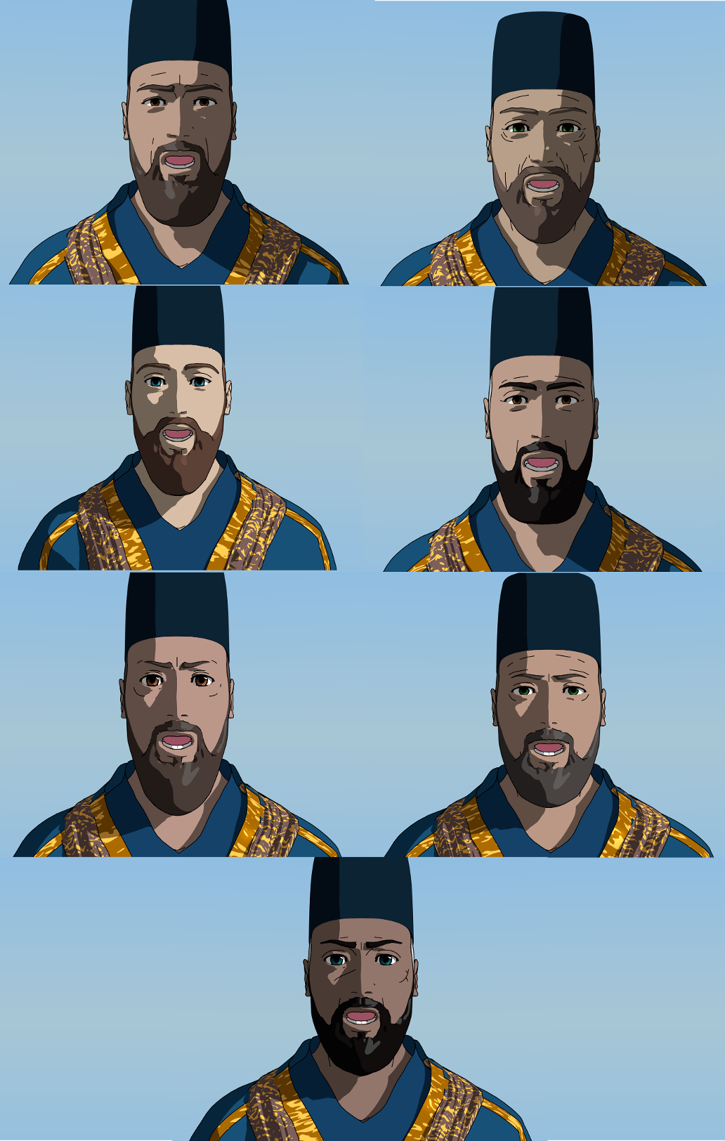 Chamberlains' faces